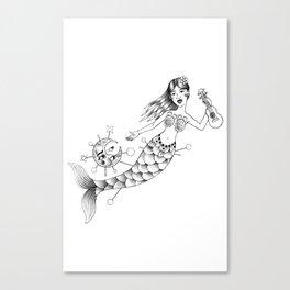Sirena visteme de noche Canvas Print