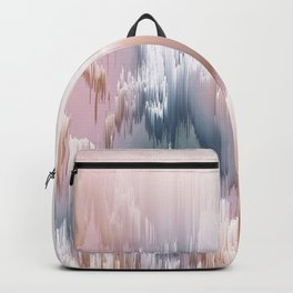 Etherial light in blush and blue - Glitch art Backpack