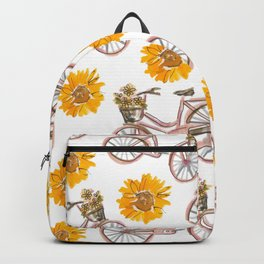 Sunflowers and Bikes! Backpack