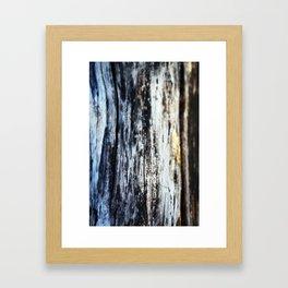 Damp on Wood Framed Art Print