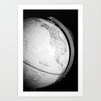 globe Art Prints featuring Globe  by Jo Bekah Photography