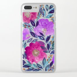 hand painted flowers_2 Clear iPhone Case