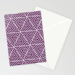 Palatinate purple - violet - Geometric Seamless Triangles Pattern Stationery Cards