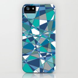 Abstract Blue Triangles iPhone Case