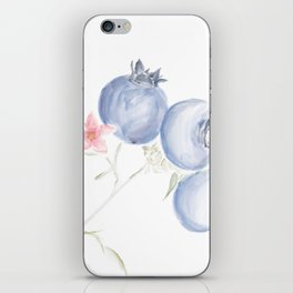 Red White & Blues ・Rustic Blueberries iPhone Skin