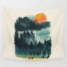 Wilderness Camp Wall Tapestry