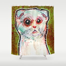 Infected Sugar Cat Shower Curtain