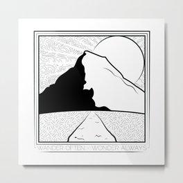 Wander Often - Wonder Always Metal Print