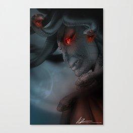 Medusa's Lament, the Eye of the Gorgon Canvas Print