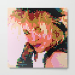 Lucky Pixel Star Metal Print