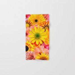 ORANGE FLOWERS Hand & Bath Towel