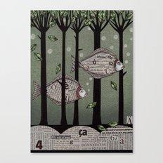 A Fishy Story Canvas Print