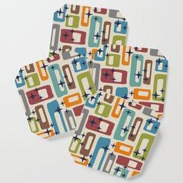Retro Mid Century Modern Abstract Pattern 224 Coaster