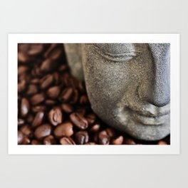 Coffee Buddha 4 Art Print