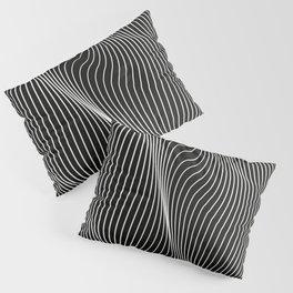 Minimal curves black Pillow Sham