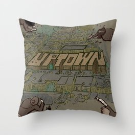 Drawing Uptown Throw Pillow