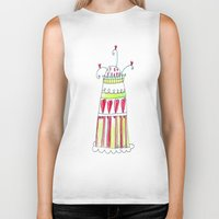 cake Biker Tanks featuring Cake by Stefania Morgante