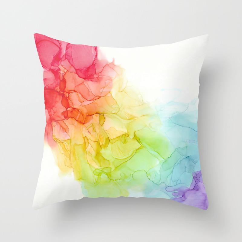 Study In Rainbow Throw Pillow By Genantolini Society6