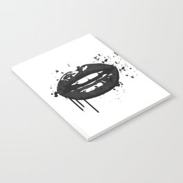Black and white glamour fashion lips Notebook