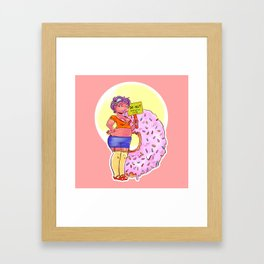 nibbles!: Donut Framed Art Print