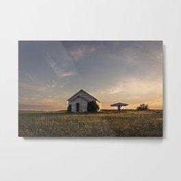 Galpin Church, Montana Prairie 2 Metal Print