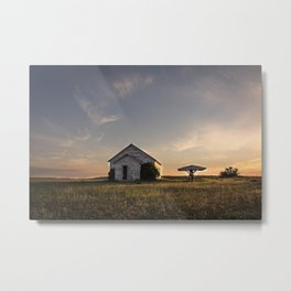 Galpin Church, Montana Prairie 2 Metal Print