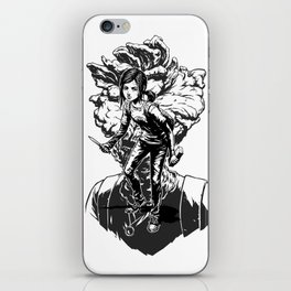 Ellie Last Of Us black iPhone Skin