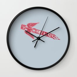 ride to fly Wall Clock