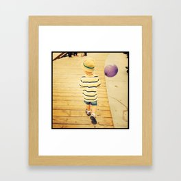 Boy and balloon.  Framed Art Print