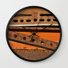 Orange Angle Wall Clock