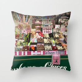 Candy Stand Throw Pillow