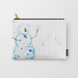 Snowman in a Snowball Fight! Carry-All Pouch