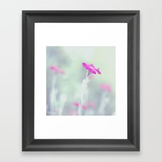 Dreaming in fuchsia Framed Art Print