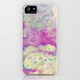 Pastel Madness - Mixed media marble painting iPhone Case