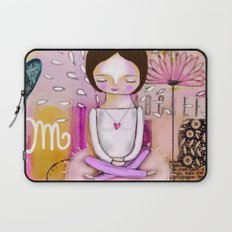 Om meditation woman Laptop Sleeve