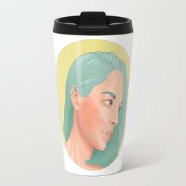 Green Haired Lady Travel Mug