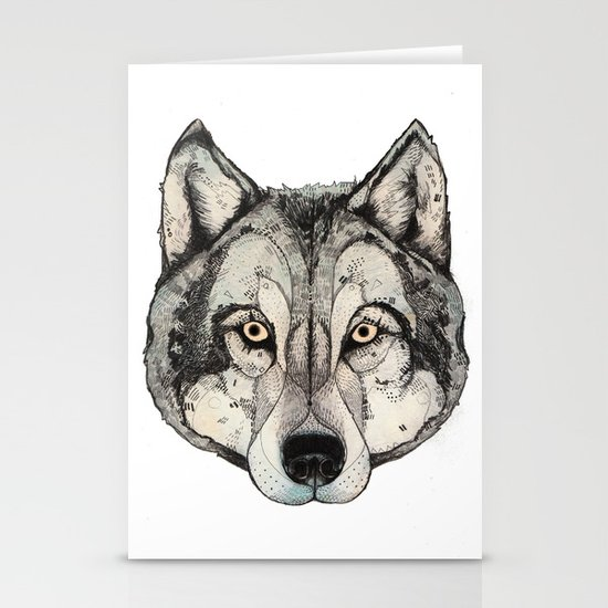 Wolf Mask Stationery Cards
