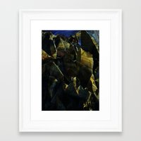 titan Framed Art Prints featuring titan by Bamboo blue