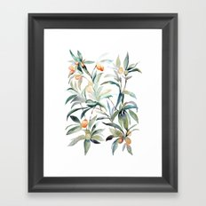 Watercolor Leaves Framed Art Print