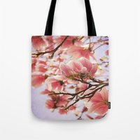 magnolia Tote Bags featuring Magnolia  by KunstFabrik_StaticMovement Manu Jobst
