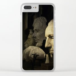 Faces of Rushmore Clear iPhone Case