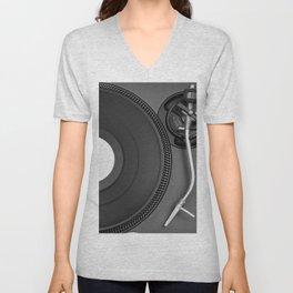 vinyl player Unisex V-Neck