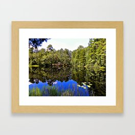 A hidden escape Framed Art Print