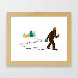 A Hairy Camp Robber Framed Art Print