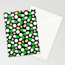 Deadly Pills Pattern Stationery Cards