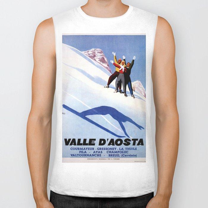 Aosta Valley winter sports Biker Tank