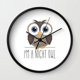 I'm A Night Owl Wall Clock