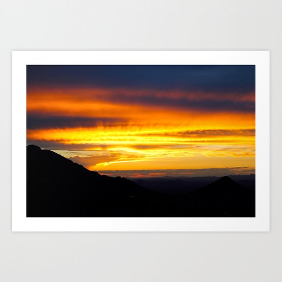 Setting of the Sun Art Print