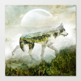 Wolf Mountain Looking Right Canvas Print