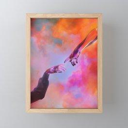 La Création d'Adam - Dorian Legret x AEFORIA Framed Mini Art Print